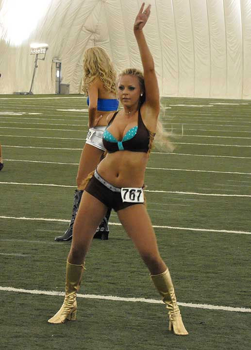 These are photos from the second day of tryouts for the Houston Texans cheerleader squad, shot in the Methodist Training Bubble on Sunday, April 15, 2012. <span class=meta>(Photo&#47;KTRK)</span>