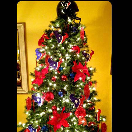 These are some of the photos that have been sent to us, showing your holiday AND Texans spirit.  Are your halls decked with Texans colors?  Shoot a photo and send it to us at news@abc13.com and we&#39;ll post it here: http:&#47;&#47;bit.ly&#47;yGLBZj <span class=meta>(Photo&#47;iWitness reports)</span>