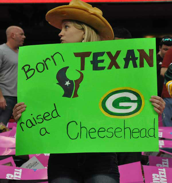 Check out the signs fans have been bringing to Reliant Stadium this season to cheer on the Texans!  Do you have fan photos?  Email them to us at news@abc13.com <span class=meta>(Photo&#47;ABC13)</span>