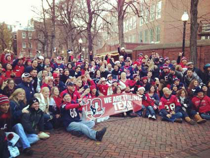 Check out these photos of Texans fans who&#39;ve invaded New England for the showdown with the Patriots.  Send your fan photos to us at news@abc13.com and we&#39;ll post them here. <span class=meta>(Photo&#47;iWitness Reports)</span>
