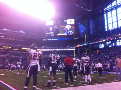 Check out these photos reporter Jeff Ehling took from inside Lucas Oil Stadium in Indy before today's Texans-Colts showdown