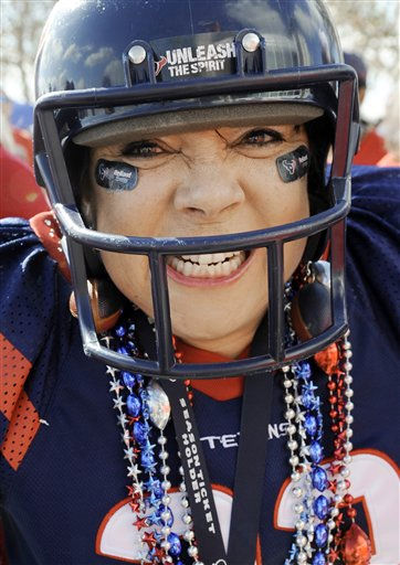"<div class=""meta ""><span class=""caption-text "">Houston Texans fan Mary Salas is photographed before an NFL wild card playoff football game against the Cincinnati Bengals Saturday, Jan. 7, 2012, in Houston. (AP Photo/Dave Einsel) (AP Photo/ Dave Einsel)</span></div>"