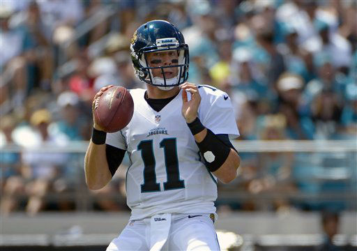 "<div class=""meta image-caption""><div class=""origin-logo origin-image ""><span></span></div><span class=""caption-text"">Jacksonville Jaguars quarterback Blaine Gabbert looks for a receiver during the first half an NFL football game against the Houston Texans, Sunday, Sept. 16, 2012, in Jacksonville, Fla. (AP Photo/Phelan M. Ebenhack) (AP Photo/ Phelan M. Ebenhack)</span></div>"