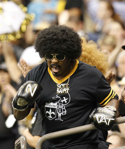 New Orleans Saints fans cheer in the first half of an NFL preseason football game against the Houston Texans in New Orleans, Saturday, Aug. 25, 2012. &#40;AP Photo&#47;Bill Haber&#41; <span class=meta>(AP Photo&#47; Bill Haber)</span>