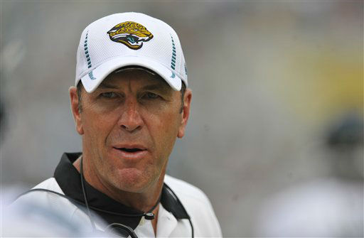 "<div class=""meta ""><span class=""caption-text "">Jacksonville Jaguars head coach Mike Mularkey watches play against the Houston Texans during the first half an NFL football game on Sunday, Sept. 16, 2012, in Jacksonville, Fla. (AP Photo/Stephen Morton) (AP Photo/ Stephen Morton)</span></div>"