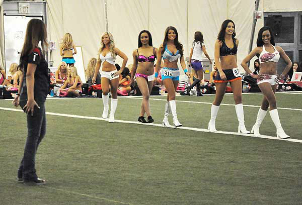 These are photos from the second day of Houston Texans cheerleader tryouts, taken on April 7, 2013.  The field of hopefuls was narrowed down from the first day, and the judges are taking a close look at the smaller group of women as they decide on this year?s squad.  More about the Houston Texans cheerleaders. <span class=meta>(Photo&#47;ABC13)</span>