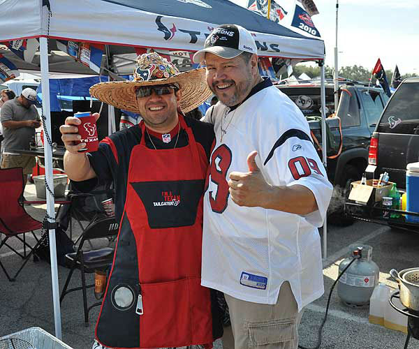 These are photos of fans at Reliant Stadium before the season opener against Miami on Sunday, August 9, 2012.  If you have photos, eamil them to us at news@abc13.com <span class=meta>(Photo&#47;ABC13)</span>