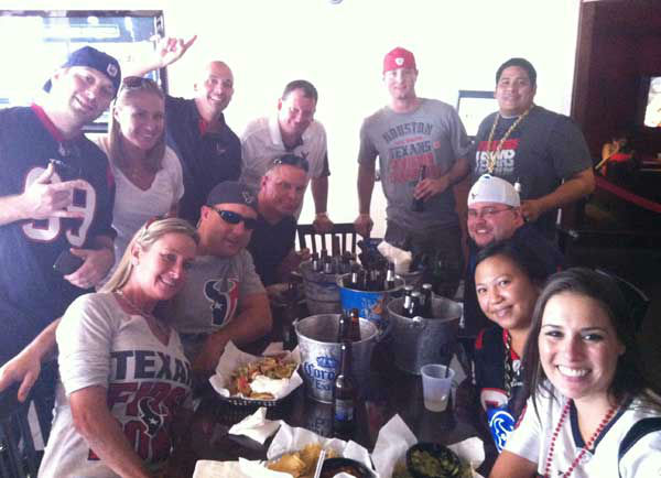 "<div class=""meta image-caption""><div class=""origin-logo origin-image ""><span></span></div><span class=""caption-text"">These are photos reporter Samica took of Texans fans in San Diego getting ready for the Monday night opener against the Chargers.  Are you or anyone you know out there for the game?  Send photos of Texans fans in San Diego to news@abc13.com and we'll add 'em!  GO TEXANS! (Photo/Samica Knight)</span></div>"