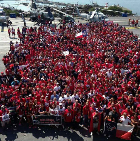"<div class=""meta ""><span class=""caption-text "">These are photos of Texans fans representing Houston loud and proud in Sand Diego in front of the season opener against the Chargers. If you're there or know someone there, send photos to us at news@abc13.com (Photo/iWitness reports)</span></div>"