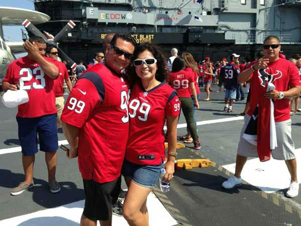 "<div class=""meta image-caption""><div class=""origin-logo origin-image ""><span></span></div><span class=""caption-text"">These are photos of Texans fans representing Houston loud and proud in Sand Diego in front of the season opener against the Chargers. If you're there or know someone there, send photos to us at news@abc13.com (Photo/iWitness reports)</span></div>"