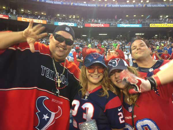 These are photos of Texans fans who made the trip to San Diego to watch Houston&#39;s dramatic win over the Chargers Monday &#40;into Tuesday!&#41; <span class=meta>(Photo&#47;ABC13)</span>