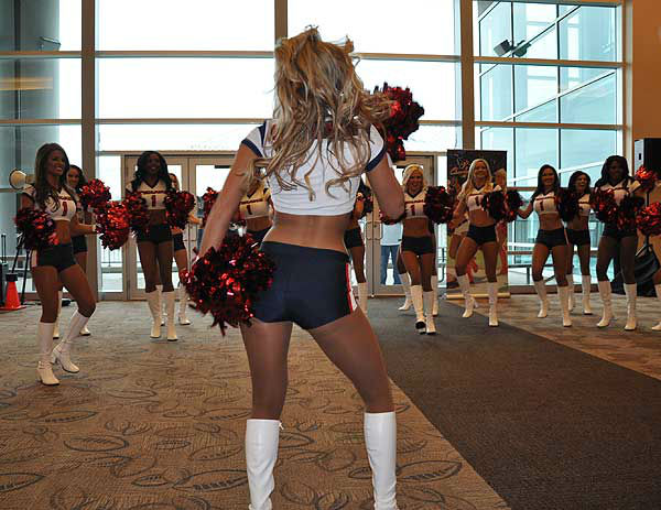These are photos from the Houston Texans draft party, which took place Thursday, April 25, 2013, at Reliant Stadium.  Fans, cheerleaders and past and present Houston football stars were there to celebrate the Texans first round pick. <span class=meta>(Photo&#47;ABC13)</span>