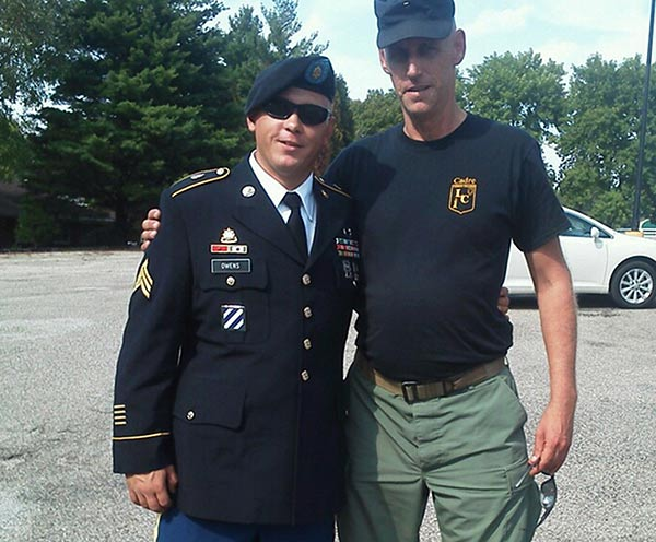"<div class=""meta image-caption""><div class=""origin-logo origin-image ""><span></span></div><span class=""caption-text"">This undated family photo provided by Glen Welton shows U.S. Army Sgt. Tim Owens, left, of Effingham, Ill., with his cousin Glen Welton. Owens was one of three people killed by a shooter at Fort Hood, Texas on Wednesday, April 2, 2014. The shooter, identified as Ivan Lopez, also wounded 16 others before shooting himself, according to authorities. (AP Photo/Courtesy of the Owens family)</span></div>"