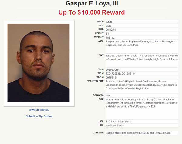Know this fugitive?  Call 1-800-252-TIPS &#40;8477&#41; <span class=meta>(Photo from Texas Department of Public Safety)</span>