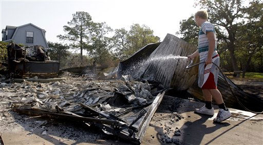 , Tuesday, Sept. 6, 2011, in Bastrop, Texas. &#40;AP Photo&#47;Eric Gay&#41; <span class=meta>(AP Photo&#47; Eric Gay)</span>