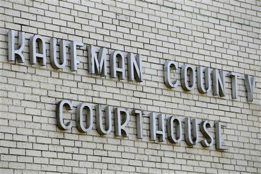 A view of the sign on the Kaufman County Courthouse building Monday, April 1, 2013, in Kaufman, Texas. Law enforcement officials throughout Texas remained on high alert Monday seeking to better protect prosecutors and their staffs following the killing of county district attorney whose assistant was gunned down just months ago.  <span class=meta>(AP Photo&#47; Tony Gutierrez)</span>