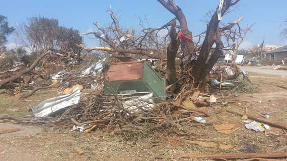 "<div class=""meta ""><span class=""caption-text "">The Hood County Sheriff's Office released images from inside the area affected by multiple tornadoes in North Texas. (Photo/Hood County Sheriff's Office)</span></div>"