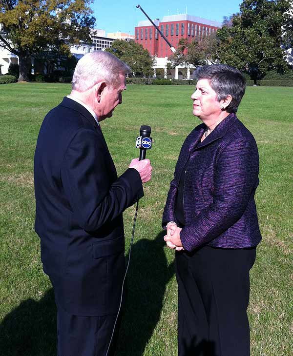 Border security is the question of the day as I interview DHS Secretary Janet Napolitano