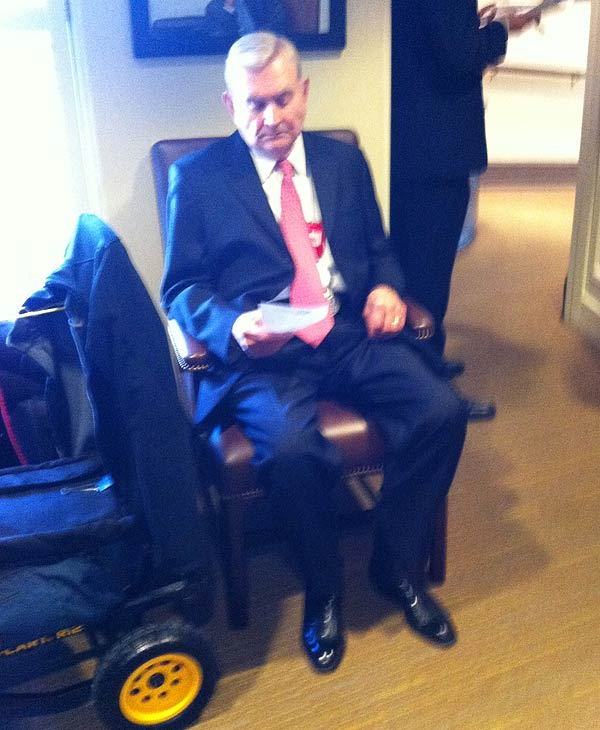Dave Ward  in the West Wing waiting to talk to...