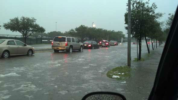"<div class=""meta ""><span class=""caption-text "">Hail, flooding and lots of lightning were reported all over the Houston area as a weather system moved across southeast Texas Saturday. (KTRK Photo)</span></div>"