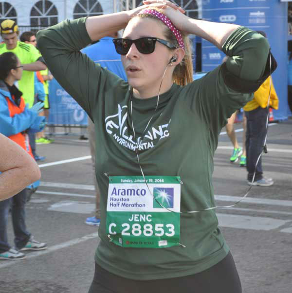 "<div class=""meta ""><span class=""caption-text "">These are photos of runners crossing the finish line at the Chevron Houston Marathon and Aramco Houston Half Marathon Sunday, January 19, 2014.  Flip through the photos to check out the relief, exhaustion and celebration on the faces of the runners after conquering the courses.  If you have photos from the run, send them to us at news@abc13.com. (Photo/ABC13)</span></div>"