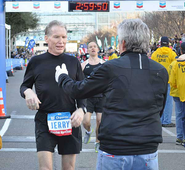 "<div class=""meta image-caption""><div class=""origin-logo origin-image ""><span></span></div><span class=""caption-text"">These are photos of runners crossing the finish line at the Chevron Houston Marathon and Aramco Houston Half Marathon Sunday, January 19, 2014. Flip through the photos to check out the relief, exhaustion and celebration on the faces of the runners after conquering the courses.  If you have photos from the run, send them to us at news@abc13.com or upload them at iWitness.abc13.com. (Photo/ABC13)</span></div>"