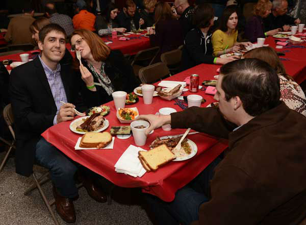 Smell something good coming from Reliant?   The  Houston Livestock Show and Rodeo World Championship BBQ Contest got underway Thursday night, with plenty of food, friends, fun!  <span class=meta>(Photo&#47;John Mizwa)</span>