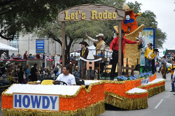 Thousands of people filed along downtown Houston streets Saturday to see the Rodeo Parade. The parade marks the start of the Houston Livestock Show and Rodeo happening at Reliant Park. <span class=meta>(KTRK Photo&#47; Justin Sternberg)</span>