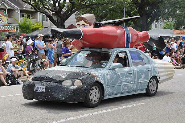Art cars of all shapes, sizes and designs took to the streets in the Houston Art Car Parade, Saturday, May 10, 2014 <span class=meta>(KTRK Photo)</span>