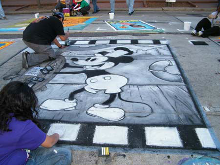 "<div class=""meta ""><span class=""caption-text "">The Via Colori street painting festival brought together more than 200 artists to make over downtown Houston in an effort to raise money for The Center for Hearing and Speech. These photos were submitted to ABC13 through our iWitness Reports. Were you there? Send your pics to news@abc13.com! (Photo/iWitness Reports)</span></div>"