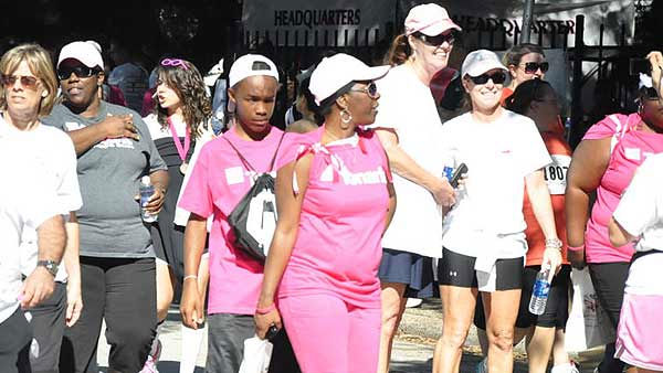 Images from Saturday's Susan G. Komen Race for the Cure in downtown Houston.  Were you there?  Send in your pictures.