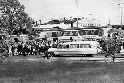 "<div class=""meta image-caption""><div class=""origin-logo origin-image ""><span></span></div><span class=""caption-text"">People are lining the street as the hearse bearing the body of slain U.S. President John F. Kennedy leaves Parkland Hospital in Dallas, Texas, to be flown to Washington, D.C., on November 22, 1963.  (AP Photo) (AP Photo/ XCB)</span></div>"