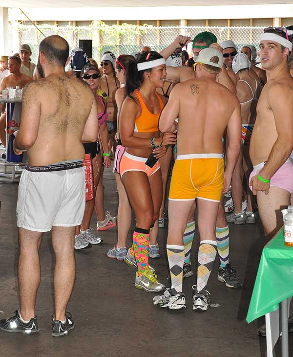 "<div class=""meta image-caption""><div class=""origin-logo origin-image ""><span></span></div><span class=""caption-text"">The first Hot Undies Run was held in Rice Village on Saturday, August 21, 2010.   About 500 good sports stripped to their skivvies and braved the extreme Houston heat for a good cause, raising money for the Children's Tumor Foundation.  The two mile course through Rice University began at Brian O'Neill's Irish Pub, ending at nearby Little Woodrow's.</span></div>"