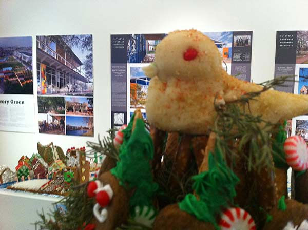 "<div class=""meta image-caption""><div class=""origin-logo origin-image ""><span></span></div><span class=""caption-text"">The winners of the Second Annual Gingerbread Build-Off are on display at the Architecture Center Houston in this incredible seasonal exhibition of talent.  No holiday display would be complete without a partridge in a pear tree. (KTRK Photo/ Adela Uchida)</span></div>"