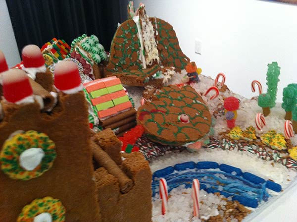 "<div class=""meta ""><span class=""caption-text "">The winners of the Second Annual Gingerbread Build-Off are on display at the Architecture Center Houston in this incredible seasonal exhibition of talent.  Breadzilla WAS attacking Gingerville. (KTRK Photo/ Adela Uchida)</span></div>"