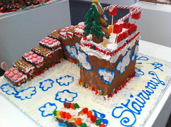 "<div class=""meta ""><span class=""caption-text "">The winners of the Second Annual Gingerbread Build-Off are on display at the Architecture Center Houston in this incredible seasonal exhibition of talent.  This one's titled Stairway to Heaven. (KTRK Photo/ Adela Uchida)</span></div>"