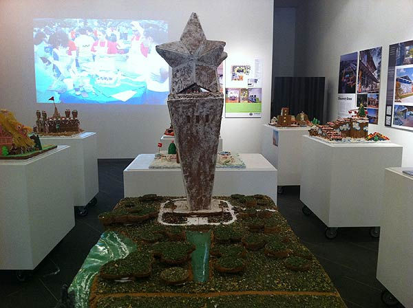 "<div class=""meta ""><span class=""caption-text "">The winners of the Second Annual Gingerbread Build-Off are on display at the Architecture Center Houston in this incredible seasonal exhibition of talent.  This depicts the San Jacinto Monument. (KTRK Photo/ Adela Uchida)</span></div>"