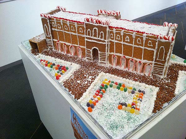 The winners of the Second Annual Gingerbread Build-Off are on display at the Architecture Center Houston in this incredible seasonal exhibition of talent.  This one is Rice University&#39;s Lovett Hall. <span class=meta>(KTRK Photo&#47; Adela Uchida)</span>