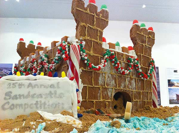 The winners of the Second Annual Gingerbread Build-Off are on display at the Architecture Center Houston in this incredible seasonal exhibition of talent.  This sandcastle made of gingerbread brings to mind the summer competition. <span class=meta>(KTRK Photo&#47; Adela Uchida)</span>