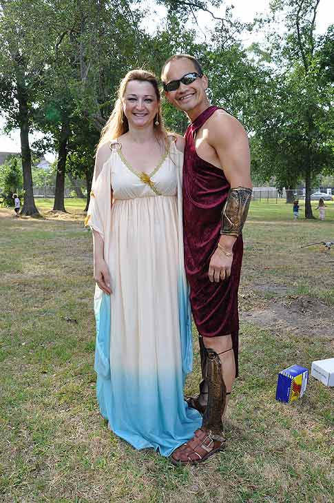 "<div class=""meta ""><span class=""caption-text "">The 2011 Clear Lake Greek Festival returned for the 18th year with their first ever Toga Fun Run.  Participants grabbed their sneakers and sunblock, and dusted off their college togas, or invented an all new one! (KTRK Photo)</span></div>"