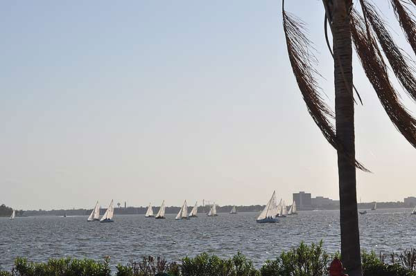 Every Wednesday evening, professional and amateur sailors get together for sailboat races on the waters of Clear Lake <span class=meta>(KTRK Photo)</span>