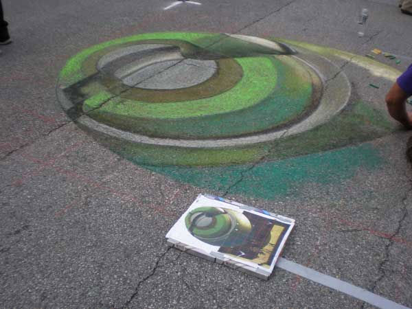 See some of the creativity on display as the Via Colori street painting festival took over Sam Houston Park Saturday