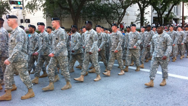 Thousands attended the parade on Saturday, April 7, 2012. Houston is only the second large city to organize an official parade for veterans returning from Iraq <span class=meta>(KTRK Photo&#47; Demond Fernandez)</span>