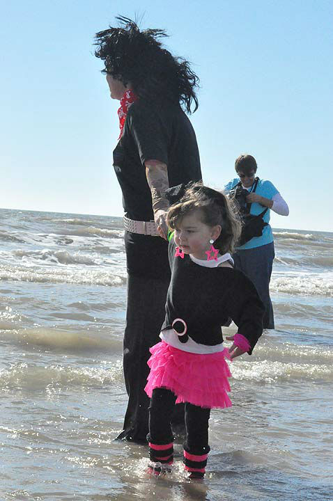 Brrrrave participants in the 2nd Annual Polar Plunge ran into the chilly waters of the Gulf of Mexico at Galveston Island&#39;s Stewart Beach on Saturday, January 19, 2013, to support Special Olympics Texas athletes.  The money raised provides year-round sports training and competitions for 2,041 athletes in the Gulf Coast area. <span class=meta>(KTRK Photo)</span>