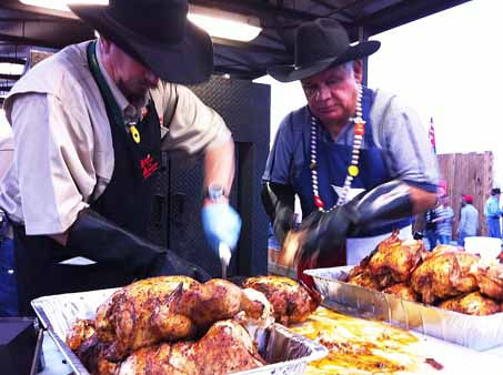 Thousands of people went to Reliant Park to enjoy barbecue, the carnival and music at the start of the Houston Livestock Show and Rodeo. <span class=meta>(KTRK Photo&#47; John Mizwa)</span>