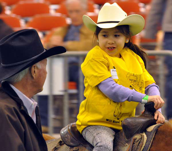 "<div class=""meta image-caption""><div class=""origin-logo origin-image ""><span></span></div><span class=""caption-text"">Some very special children took center stage at the Main Arena in Reliant Center during the Houston Livestock Show and Rodeo on Thursday, February 28, 2013 for the Lil' Rustlers Rodeo.  The children rode horses, visited newborn animals, and tried their hand at roping and riding in activities designed especially for them, with the help of volunteer cowboys and cowgirls, clowns and the members of the Special Children's Committee. (KTRK Photo/ Gina Larson)</span></div>"