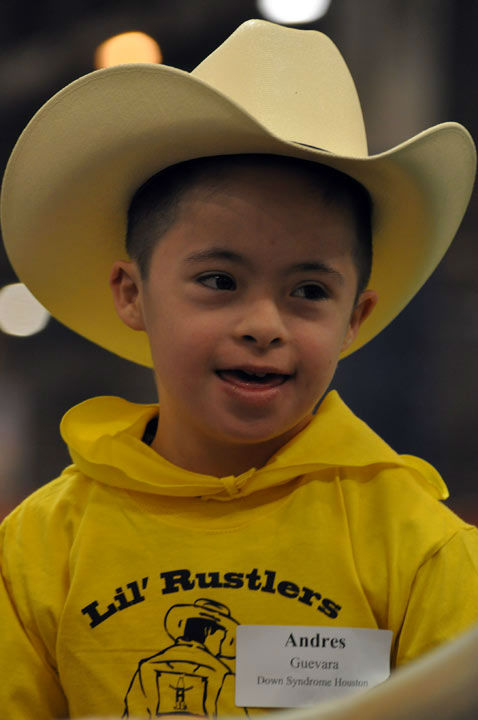 "<div class=""meta ""><span class=""caption-text "">Some very special children took center stage at the Main Arena in Reliant Center during the Houston Livestock Show and Rodeo on Thursday, February 28, 2013 for the Lil' Rustlers Rodeo.  The children rode horses, visited newborn animals, and tried their hand at roping and riding in activities designed especially for them, with the help of volunteer cowboys and cowgirls, clowns and the members of the Special Children's Committee. (KTRK Photo/ Gina Larson)</span></div>"