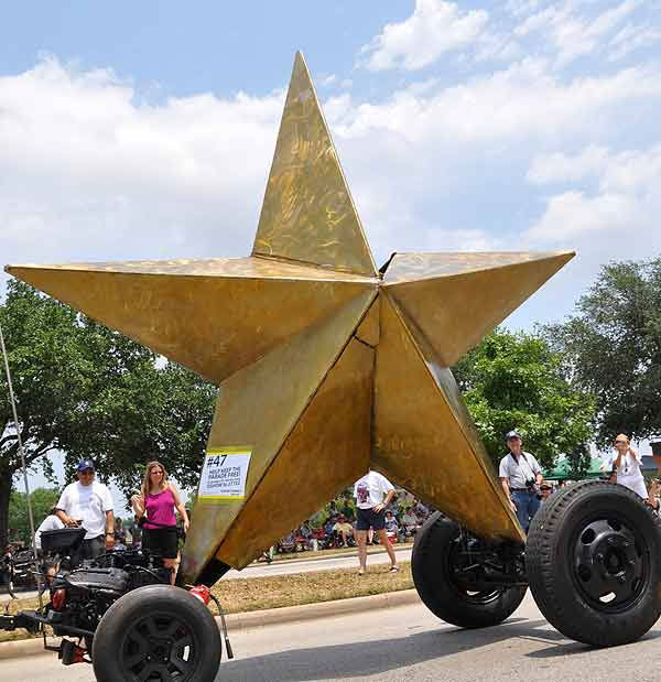 Cars, bikes and vehicles that defy description took to the streets of Houston for the 2011 Art Car Parade on Sunday, May 22!  The Art Car Weekend is the Orange Show&#39;s biggest outreach program, a vehicle for the message that art is an integral part of everyone&#39;s everyday life. The weekend&#39;s events are part folk art, part fine art, part wholly artistic expression of every kind. <span class=meta>(KTRK Photo)</span>