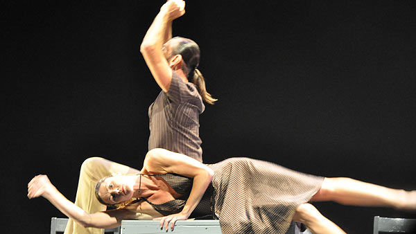 Dance Source Houston presented the 16th annual Weekend of Texas Contemporary Dance at Miller Outdoor Theatre on September 24-25, 2010.  Tap dance, trapeze work, and Tchaikovsky all played a part  in this  evening of performances by 10 Texas-based choreographers and dance companies.