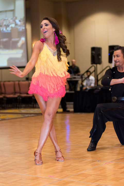 ABC13&#39;s Sonia Azad made a surprise Cha-Cha performance with partner Cristiano Callegari of Dance with Stars Academy in Katy at the Halo House Foundation&#39;s 2013 &#39;Houston Stars: Dancing for a Cause&#39; gala on October 12 <span class=meta>(Photo&#47;Killy Photography)</span>